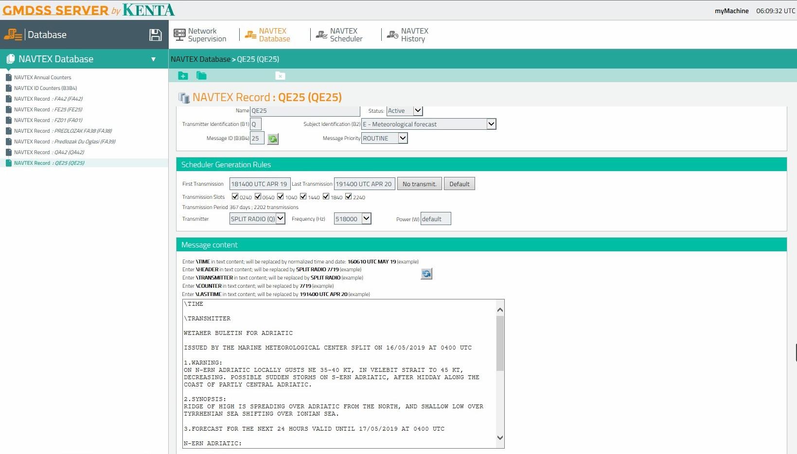 Plovput > Radio Service > NAVTEX System